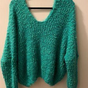 Pol chenille eyelash slouchy sweater 💚
